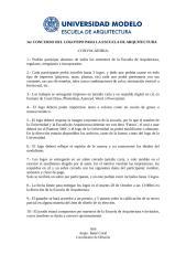 1er CONCURSO DEL LOGOTIPO PARA LA ESCUELA DE ARQUITECTURA.doc