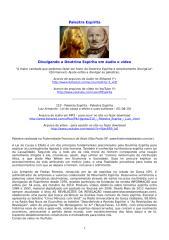 210 - Palestra Espírita - Luiz Armando - Lei de causa e efeito e suas sutilezas.doc