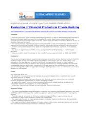 Evaluation of Financial Products in Private Banking.doc