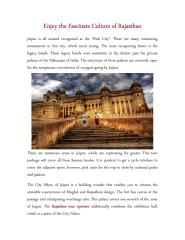 Enjoy the Fascinate Culture of Rajasthan.pdf