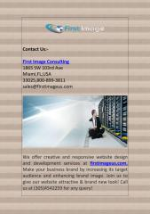 Miami Web Design Services by First Image.pdf