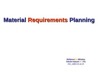 Material Requirements Planning.ppt