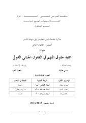 حماية حقوق المتهم في القانون الجنائي الدولي.pdf