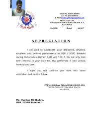 Appreciation letter due to Muharram-ul-Harram duties 2017.doc