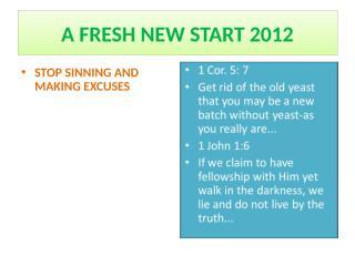 A FRESH START 2012.ppt