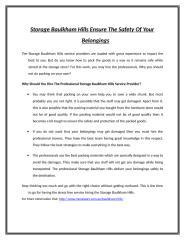 Storage Baulkham Hills Ensure The Safety Of Your Belongings.doc